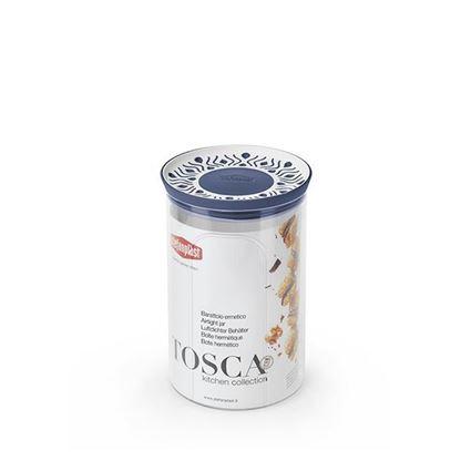 קופסת אחסון עגול 1.2 ליטר Tosaca אפור
