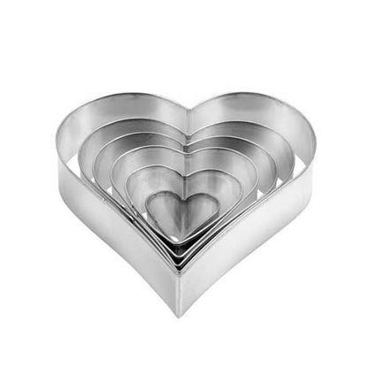 סט חותכי עוגיות בצורת לב Tescoma