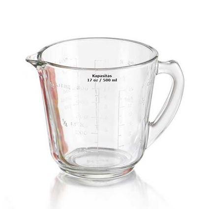 כוס מידה 0.5 ליטר Pyrex