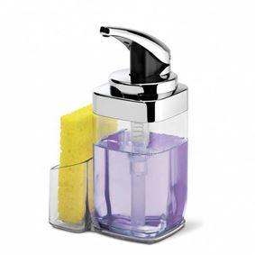 דיספנסר לסבון נוזלי עם מקום לספוג Simplehuman