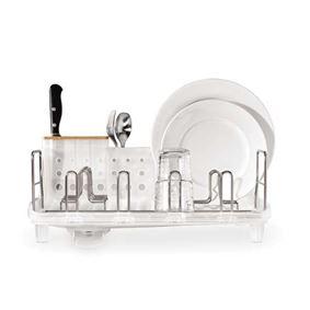 מתקן לייבוש כלים קומפקטי שקוף Simplehuman