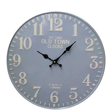שעון קיר דקורטיבי Bistrot כחול