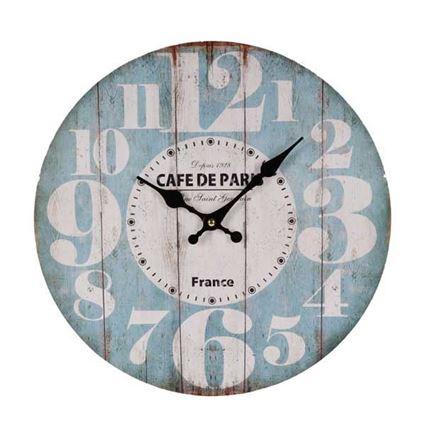 שעון קיר דקורטיבי Cafe de Paris