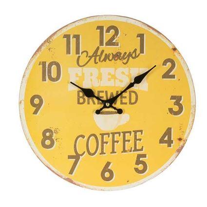 שעון קיר דקורטיבי Brewed