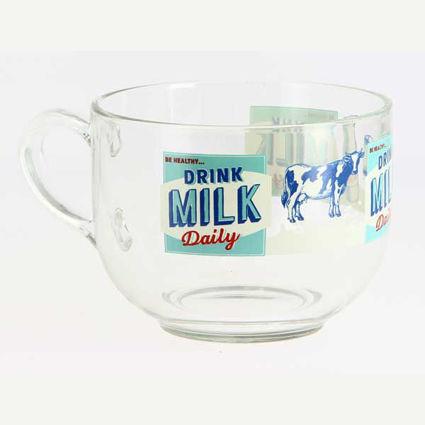 ספל קפה ענק Breakfast דגם חלב