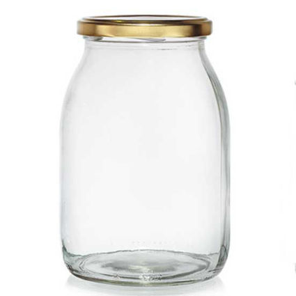 צנצנת זכוכית אטומה 1 ליטר