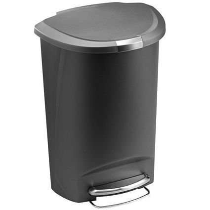 פח אשפה 50 ליטר עם דוושה חצי עגול
