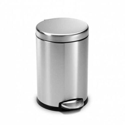 פח אשפה 4.5 ליטר עגול נירוסטה מט