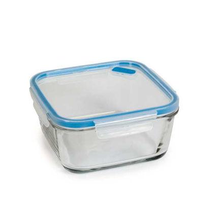 קופסת אחסון לאוכל מזכוכית 1.4 ליטר מרובע