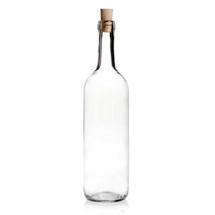 """בקבוק מים 750 מ""""ל עם פקק שעם"""
