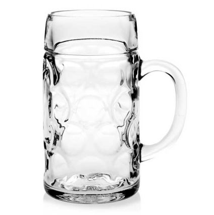 """כוס בירה 700 מ""""ל עם ידית דגם BYERN"""