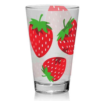 """3 כוסות שתיה 310 מ""""ל תותים"""