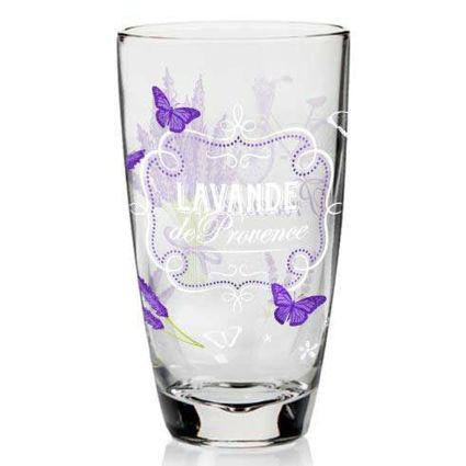 סט 3 כוסות שתיה מעוטרות Lavender
