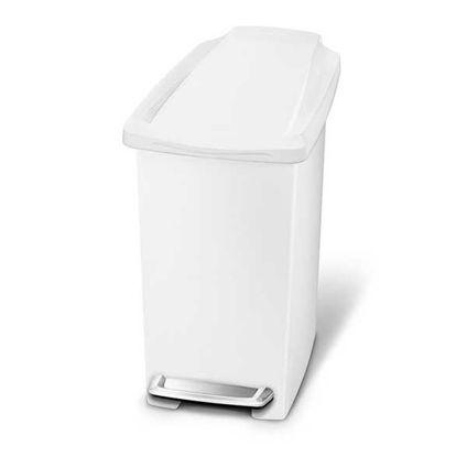 פח אשפה 10 ליטר צר לבן