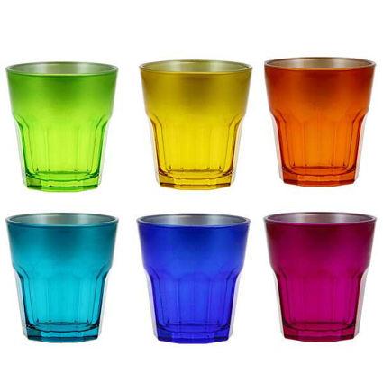 """תמונה של כוס שתיה 270 מ""""ל הוליווד נמוך 6 צבעים"""