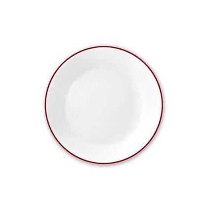 """צלחת עוגה 17 ס""""מ קורנינג פס אדום"""